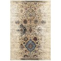 """Oriental Weavers Empire 6' 7"""" X  9' 6"""" Casual Ivory/ Blue Rectangle  - Item Number: EMP28W67X96"""