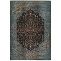 """Oriental Weavers Empire 2' 3"""" X  7' 6"""" Traditional Blue/ Navy Runner - Item Number: EMP4440L23X76"""