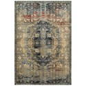 """Oriental Weavers Empire 7'10"""" X 10'10"""" Traditional Gold/ Blue Rectan - Item Number: EMP4449H710X1010"""