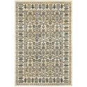 "Oriental Weavers Empire 2' 3"" X  7' 6"" Traditional Ivory/ Blue Runne - Item Number: EMP501U23X76"