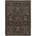 """Oriental Weavers Foundry 3'10"""" X  5' 5"""" Traditional Grey/ Charcoal Re - Item Number: FOU4923E310X55"""