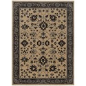 "Oriental Weavers Foundry 3'10"" X  5' 5"" Traditional Sand/ Grey Rectan - Item Number: FOU596I310X55"