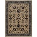 "Oriental Weavers Foundry 6' 7"" X  9' 6"" Traditional Sand/ Grey Rectan - Item Number: FOU596I67X96"