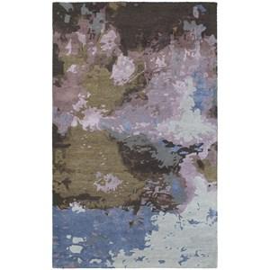 "Oriental Weavers Galaxy 5' 0"" X  8' 0"" Contemporary Blue/ Purple Rec"
