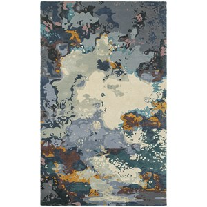 "Oriental Weavers Galaxy 10' 0"" X 13' 0"" Contemporary Blue/ Grey Rect"