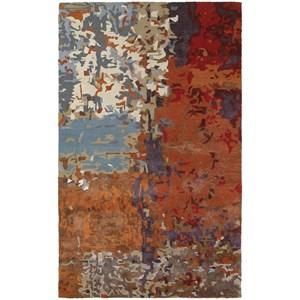 "Oriental Weavers Galaxy 3' 6"" X  5' 6"" Contemporary Multi/ Orange Re"