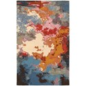 """Oriental Weavers Galaxy 5' 0"""" X  8' 0"""" Contemporary Multi/ Pink Rect - Item Number: GAL219085X8"""