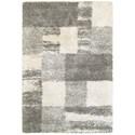 "Oriental Weavers Henderson 9'10"" X 12'10"" Shag Ivory/ Grey Rectangle Ru - Item Number: HEN5502H910X1210"