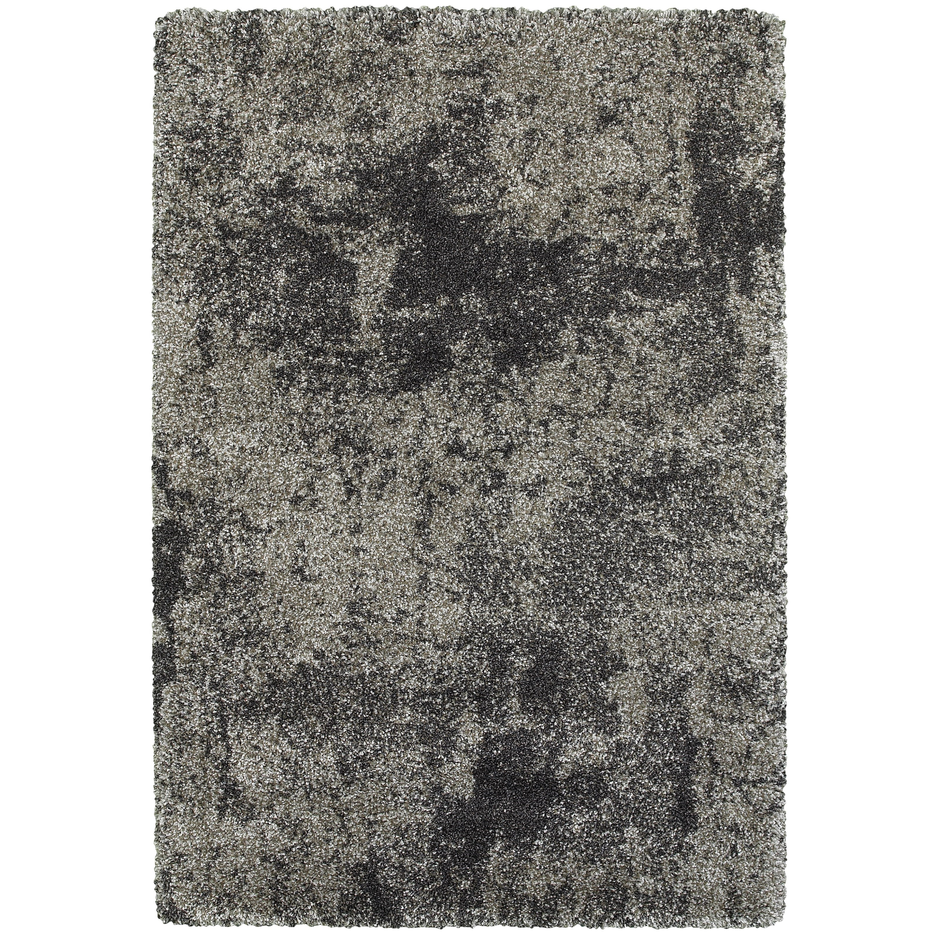 "5' 3"" X  7' 6"" Shag Grey/ Charcoal Rectangle"
