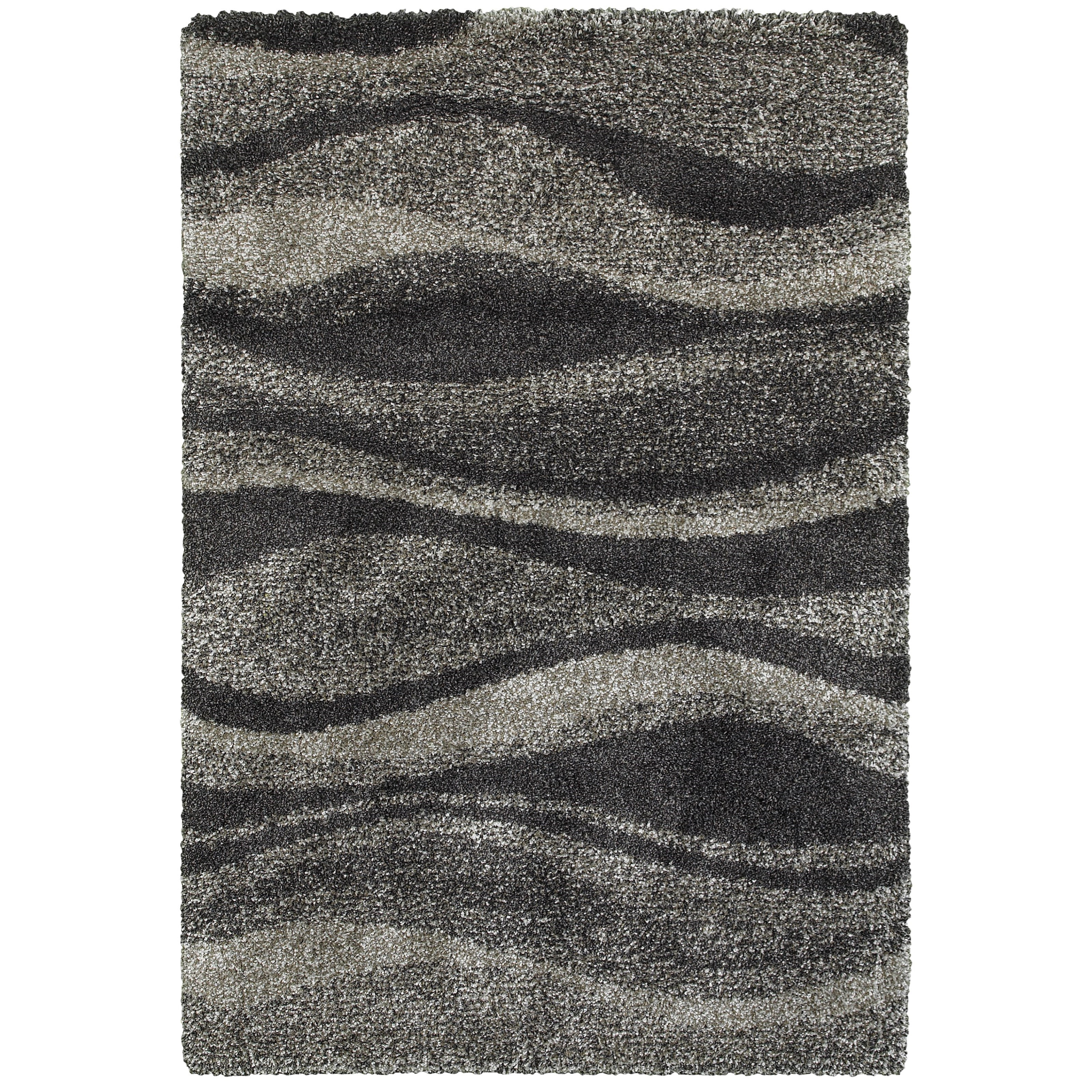 """Henderson 6' 7"""" X  9' 6"""" Shag Grey/ Charcoal Rectangle by Oriental Weavers at Darvin Furniture"""