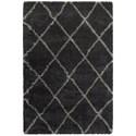 "Oriental Weavers Henderson 1'10"" X  3' 3"" Shag Charcoal/ Grey Rectangle - Item Number: HEN90K110X33"