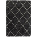 "Oriental Weavers Henderson 9'10"" X 12'10"" Shag Charcoal/ Grey Rectangle - Item Number: HEN90K910X1210"