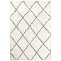 "Oriental Weavers Henderson 7'10"" X 10'10"" Shag Ivory/ Grey Rectangle Ru - Item Number: HEN90W710X1010"