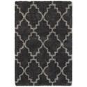 "Oriental Weavers Henderson 3'10"" X  5' 5"" Shag Charcoal/ Grey Rectangle - Item Number: HEN92K310X55"