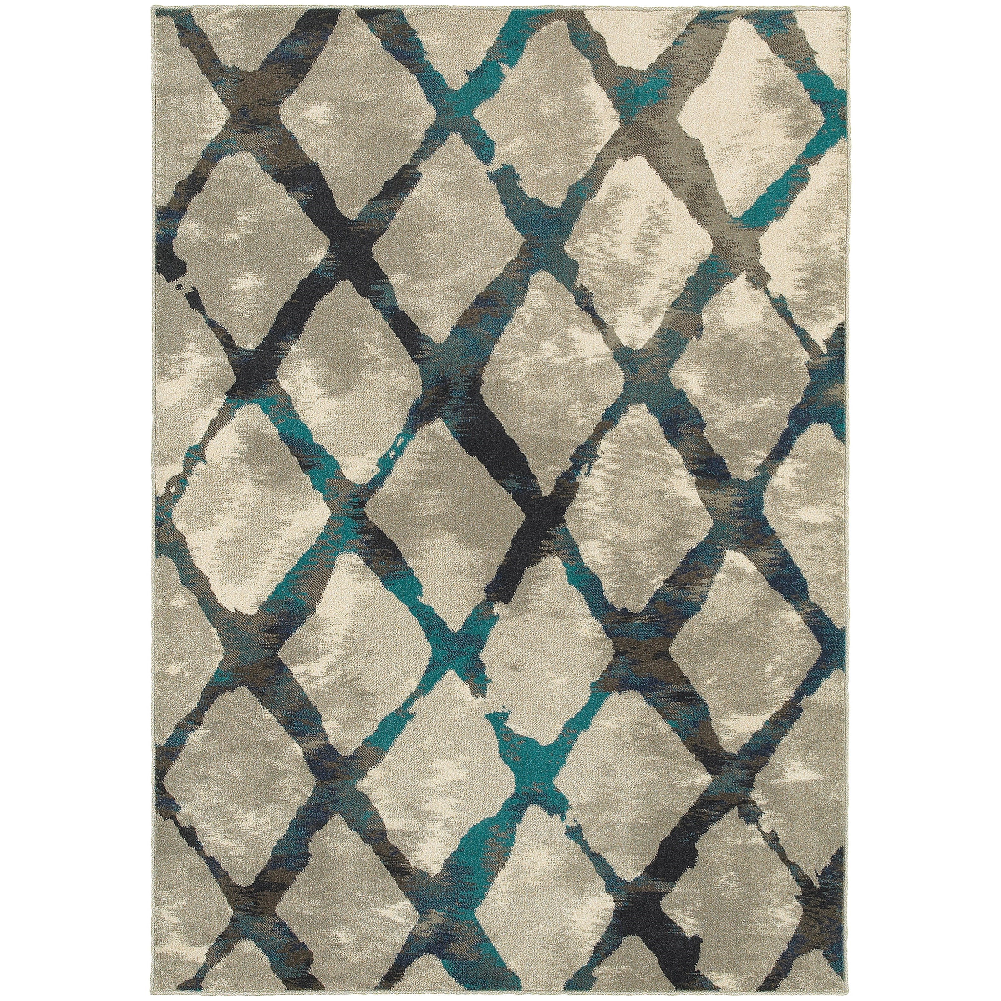 "Oriental Weavers Highlands 3'10"" X  5' 5"" Rectangle Area Rug - Item Number: HIG6613A310X55"