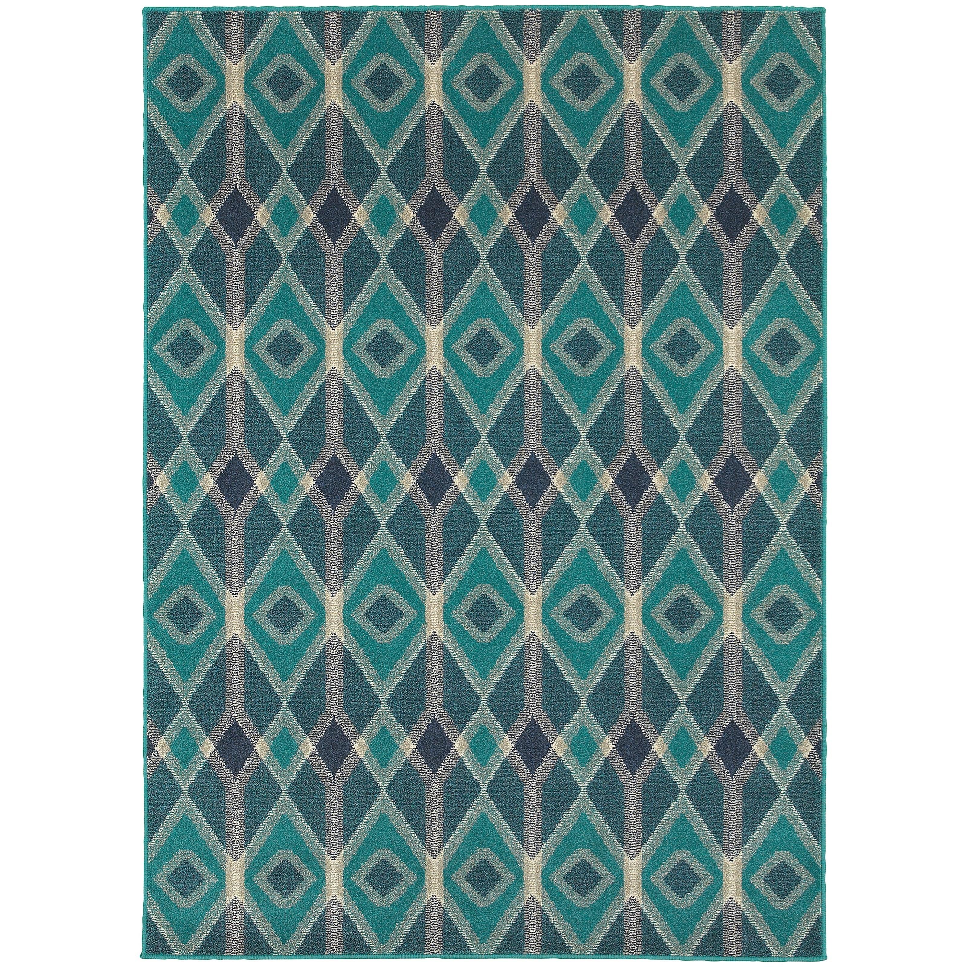 "Oriental Weavers Highlands 3'10"" X  5' 5"" Rectangle Area Rug - Item Number: HIG6627B310X55"