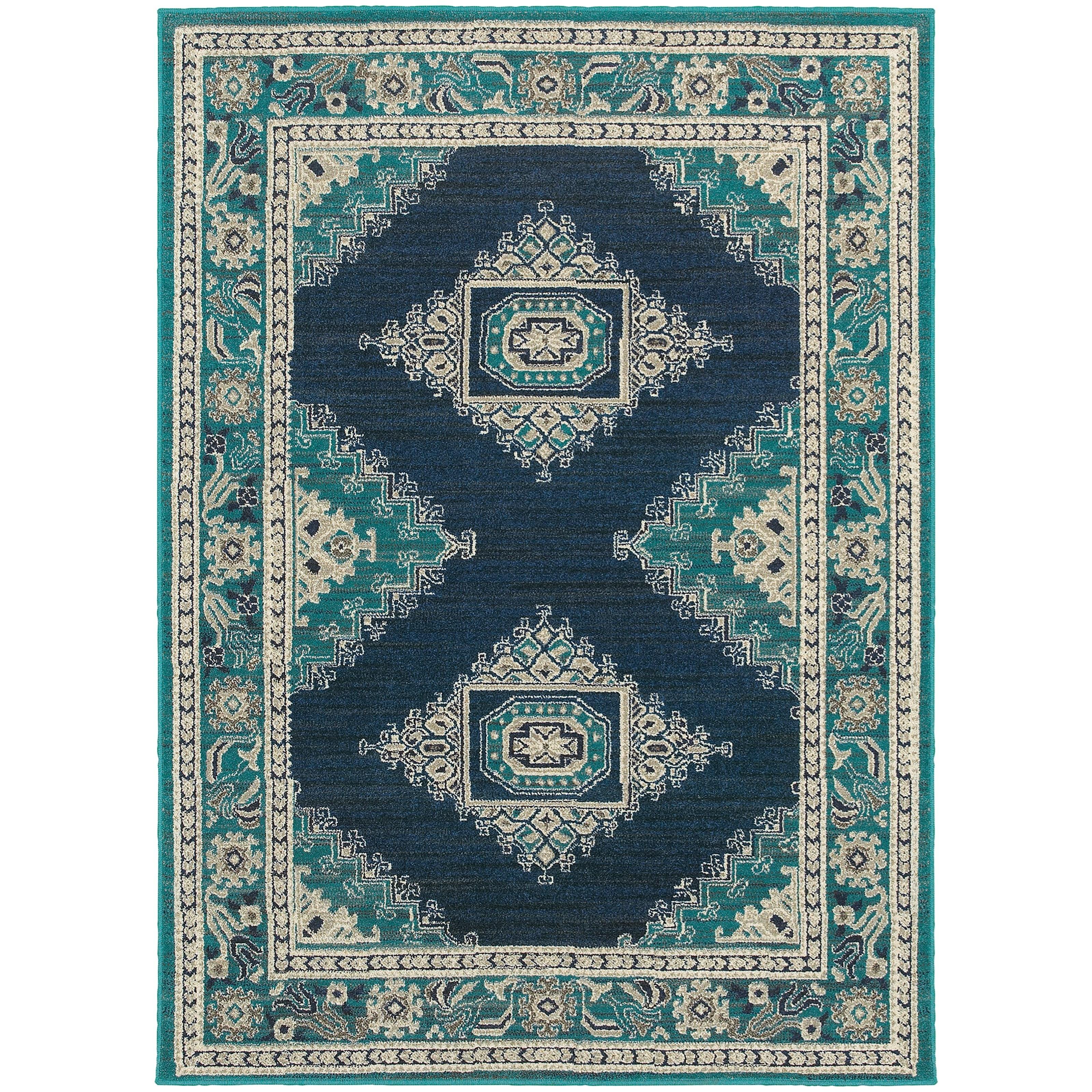 "Oriental Weavers Highlands 3'10"" X  5' 5"" Rectangle Area Rug - Item Number: HIG6658A310X55"
