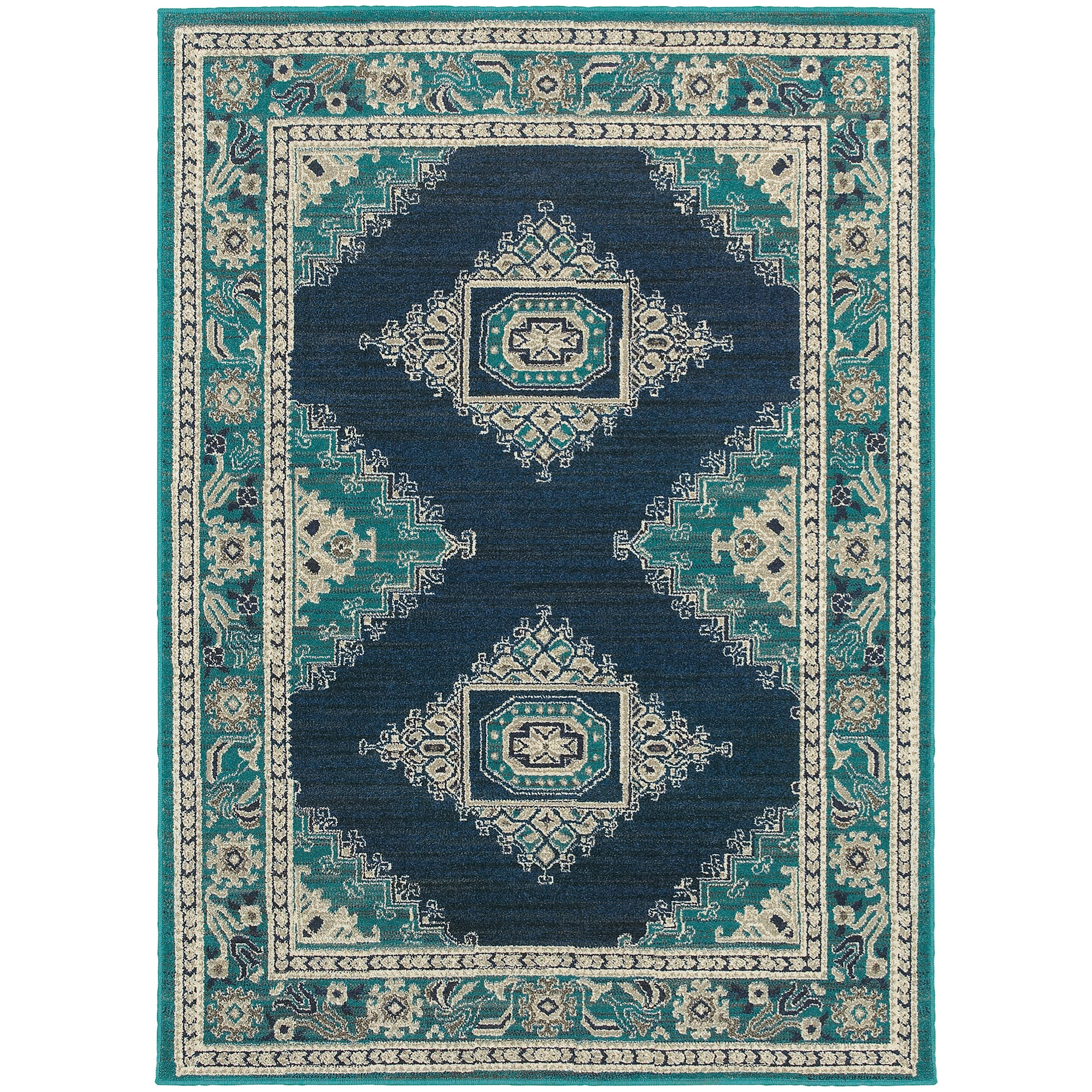 "Oriental Weavers Highlands 5' 3"" X  7' 6"" Rectangle Area Rug - Item Number: HIG6658A53X76"