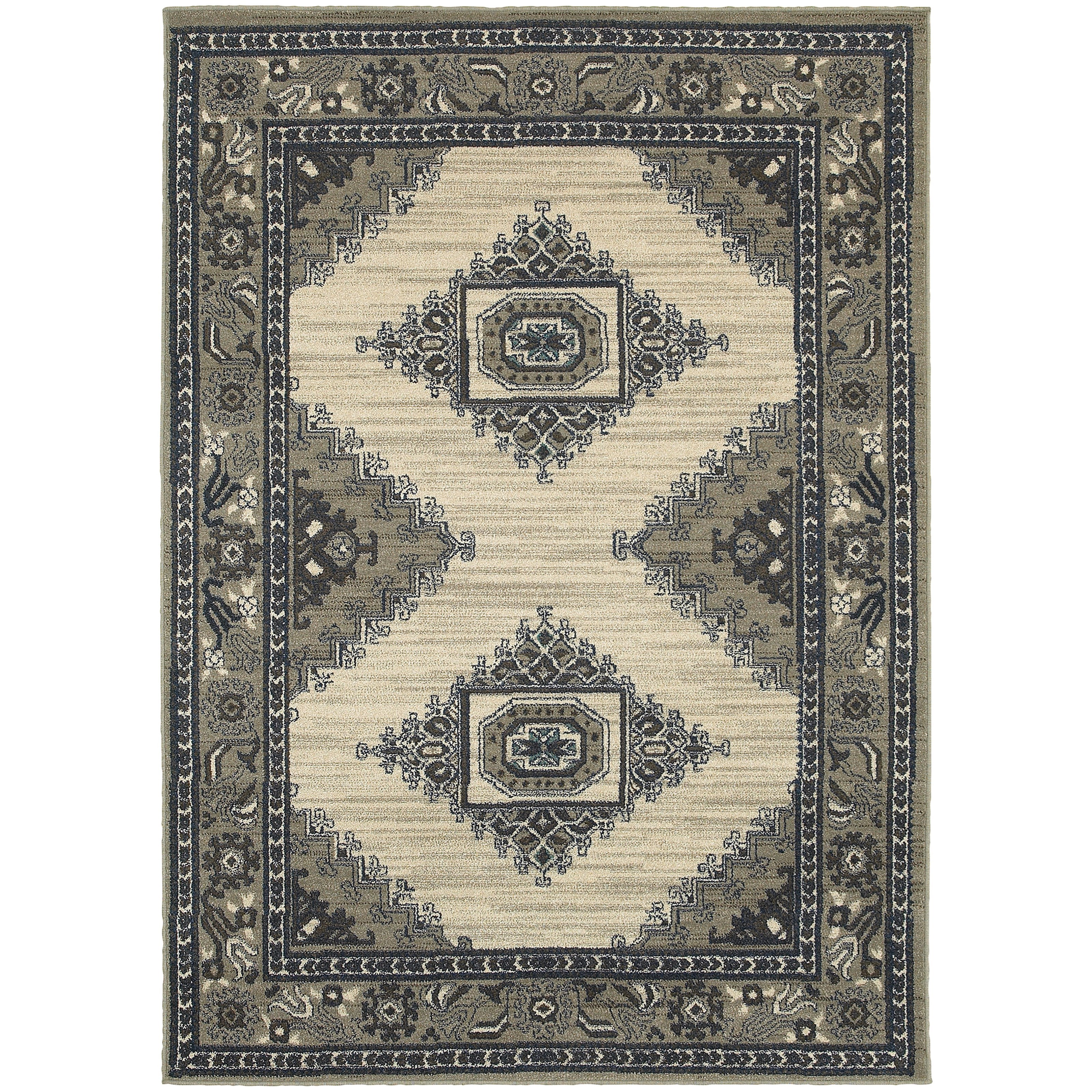 "Oriental Weavers Highlands 1'10"" X  3' 0"" Rectangle Area Rug - Item Number: HIG6658B110X3"