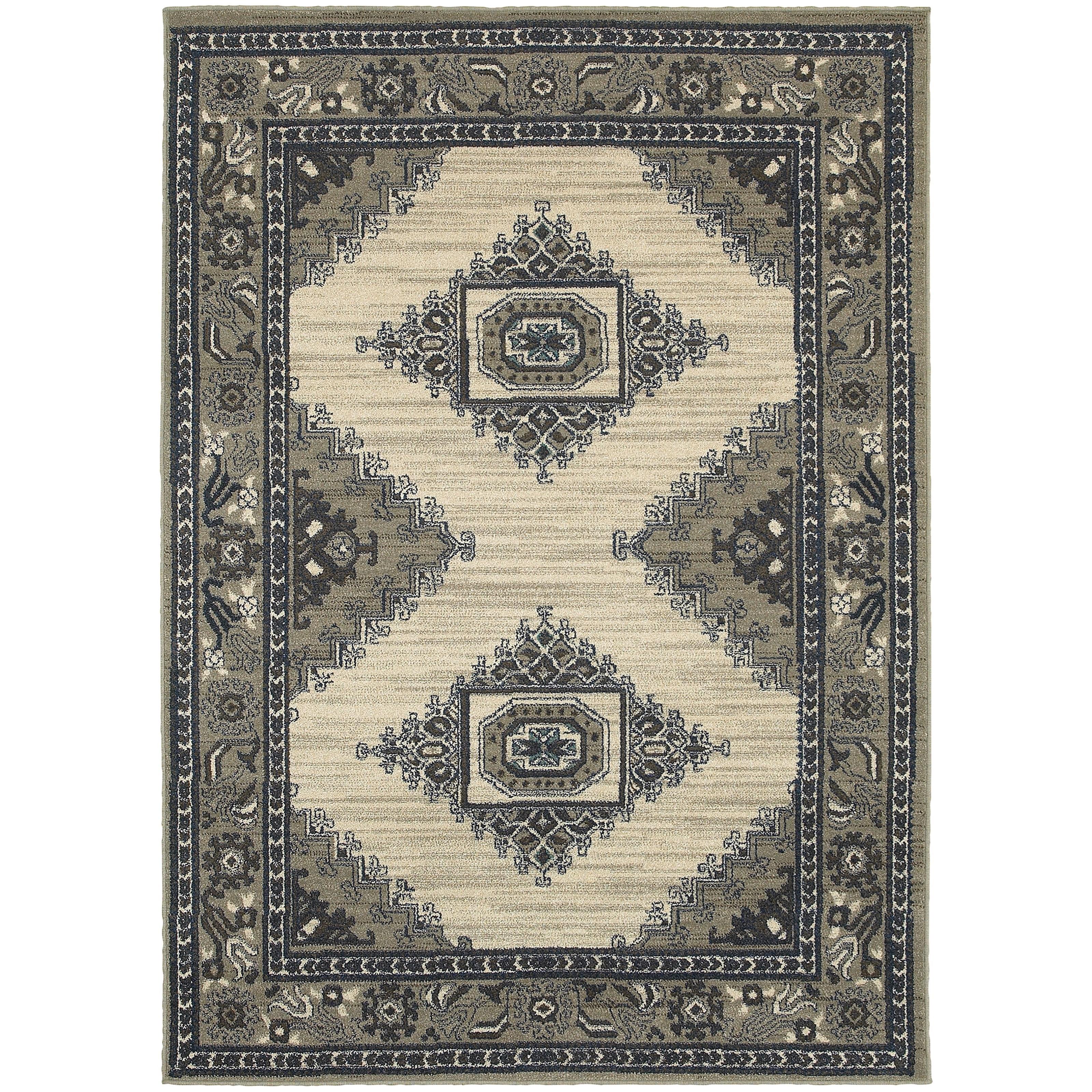 "Oriental Weavers Highlands 3'10"" X  5' 5"" Rectangle Area Rug - Item Number: HIG6658B310X55"