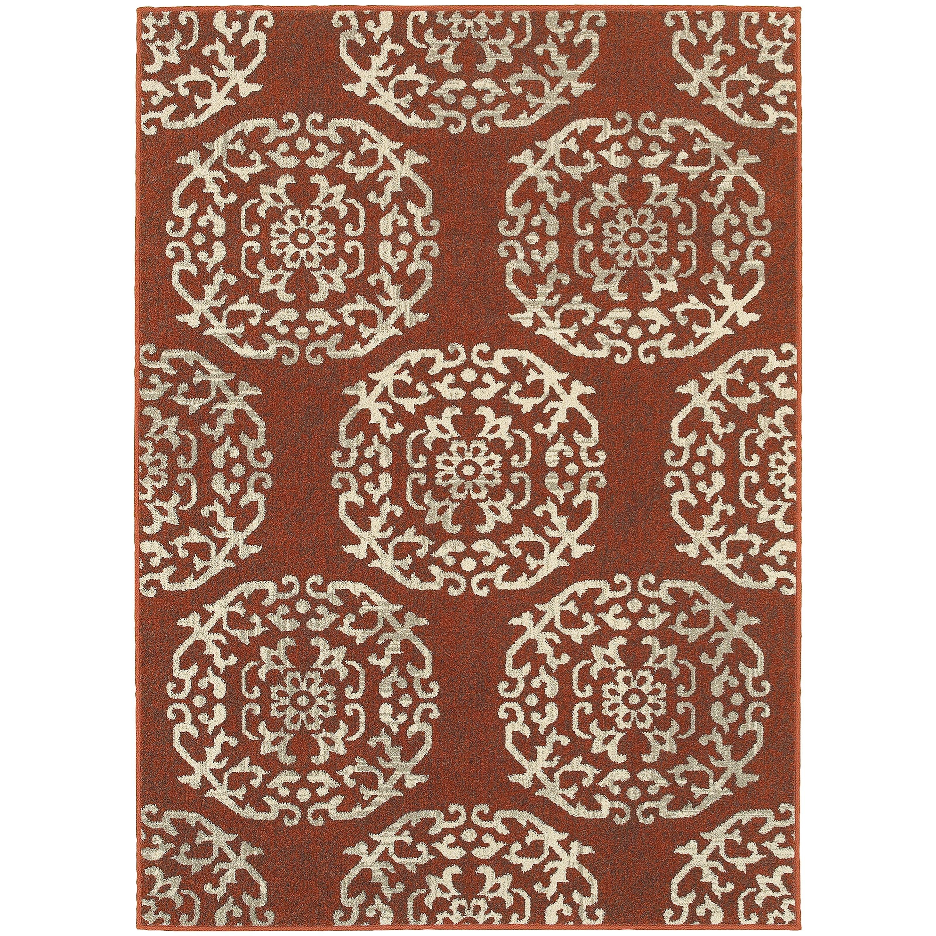 "Oriental Weavers Highlands 6' 7"" X  9' 6"" Rectangle Area Rug - Item Number: HIG6672B67X96"
