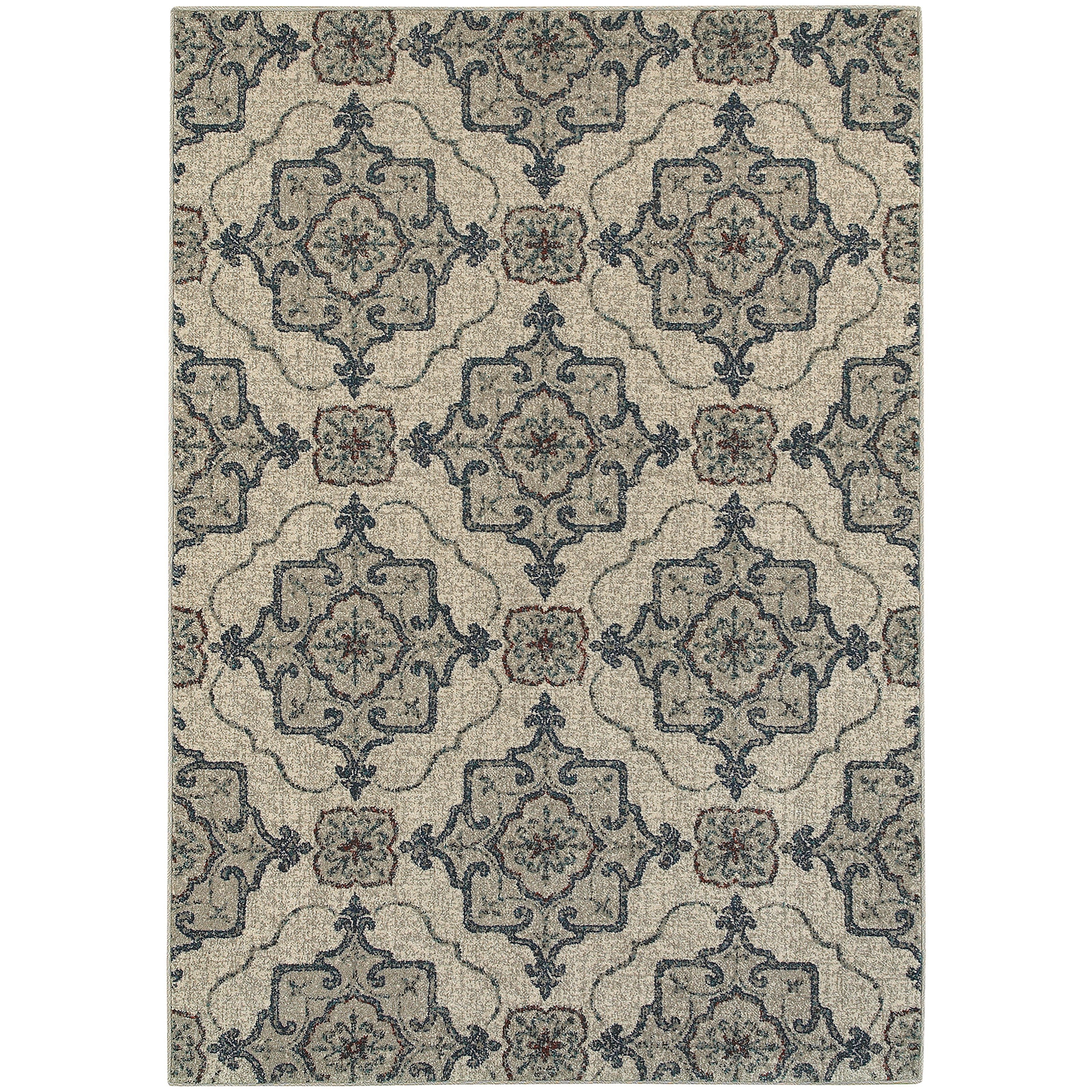 "Oriental Weavers Highlands 3'10"" X  5' 5"" Rectangle Area Rug - Item Number: HIG6677A310X55"