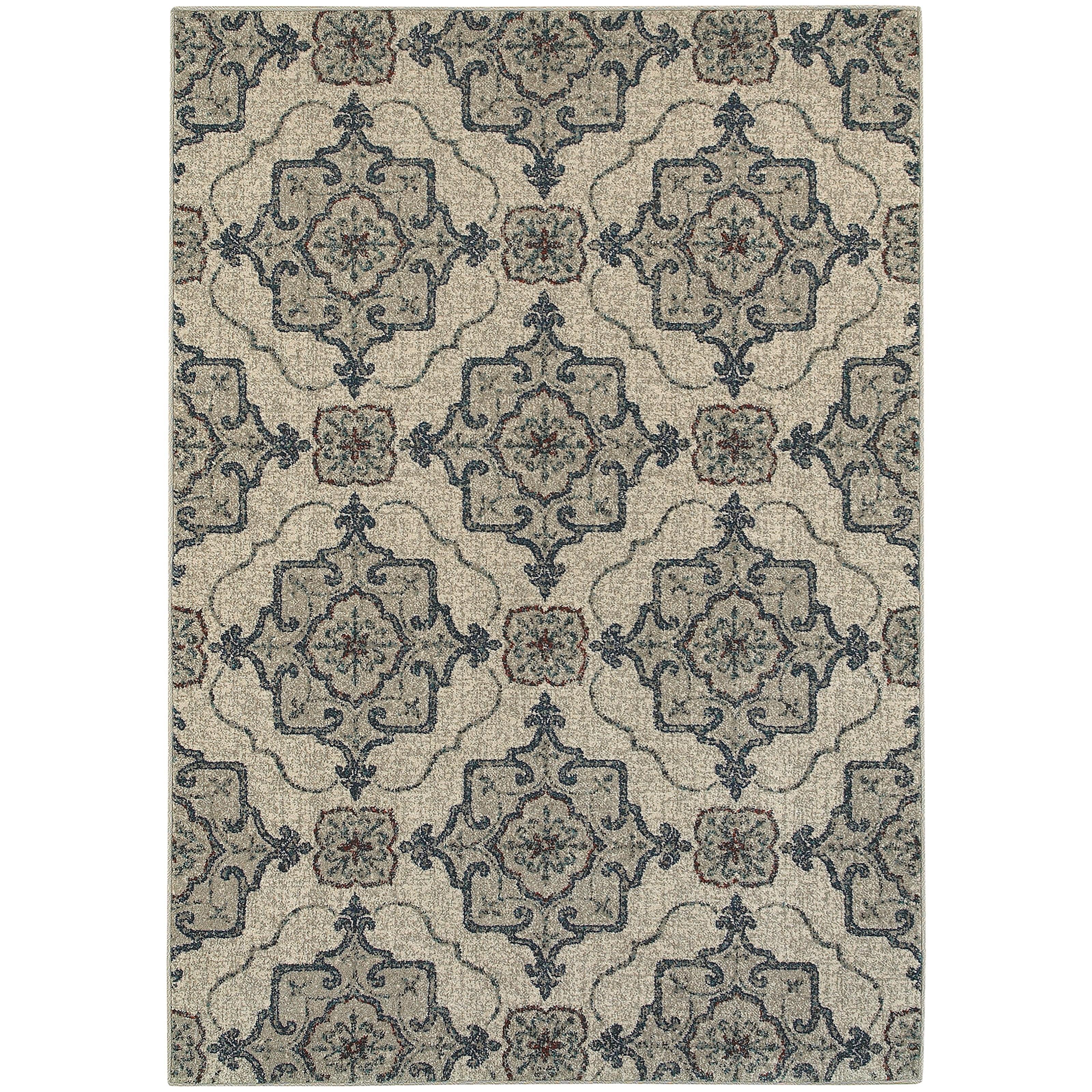 "Oriental Weavers Highlands 9'10"" X 12'10"" Rectangle Area Rug - Item Number: HIG6677A910X1210"