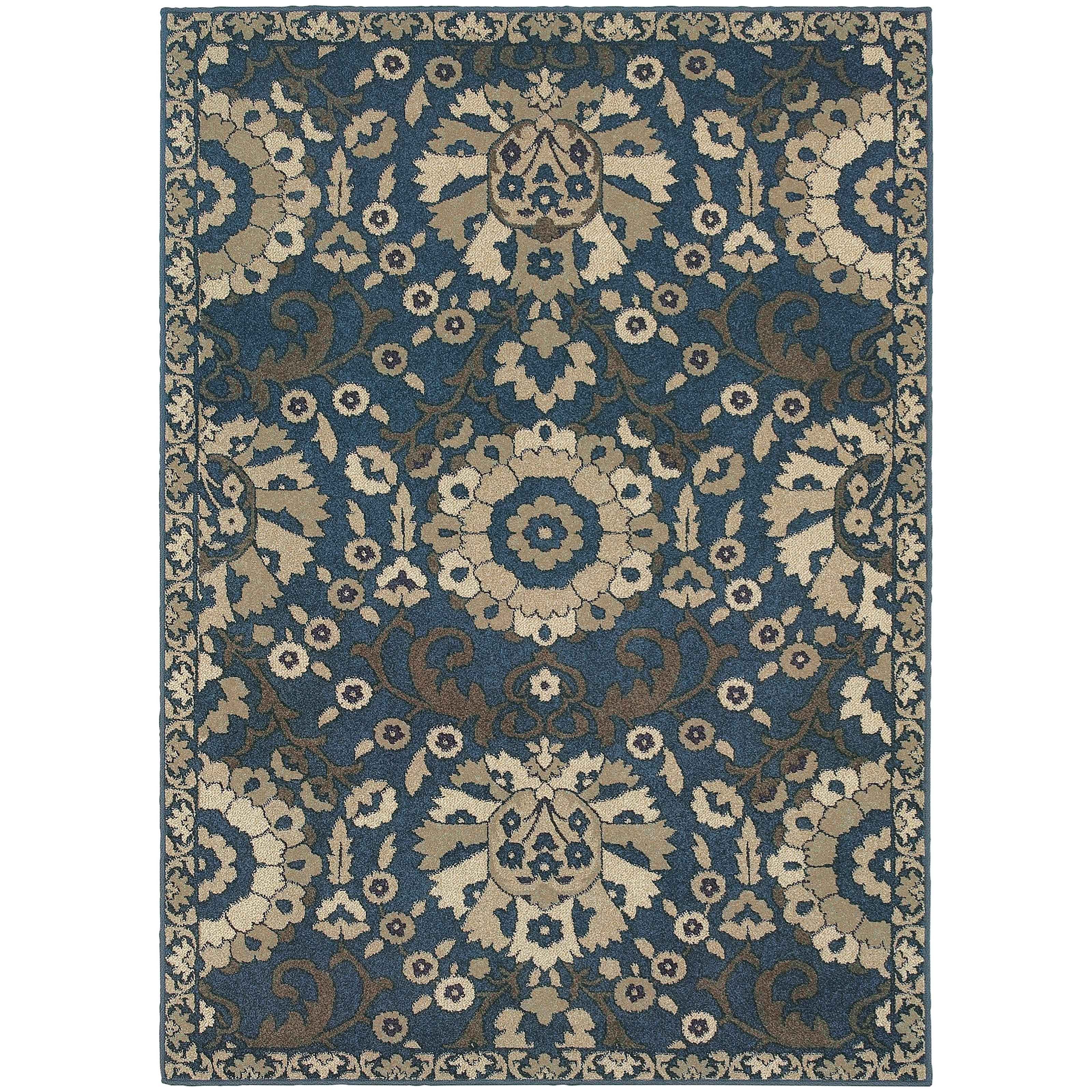 "Oriental Weavers Highlands 5' 3"" X  7' 6"" Rectangle Area Rug - Item Number: HIG6682A53X76"