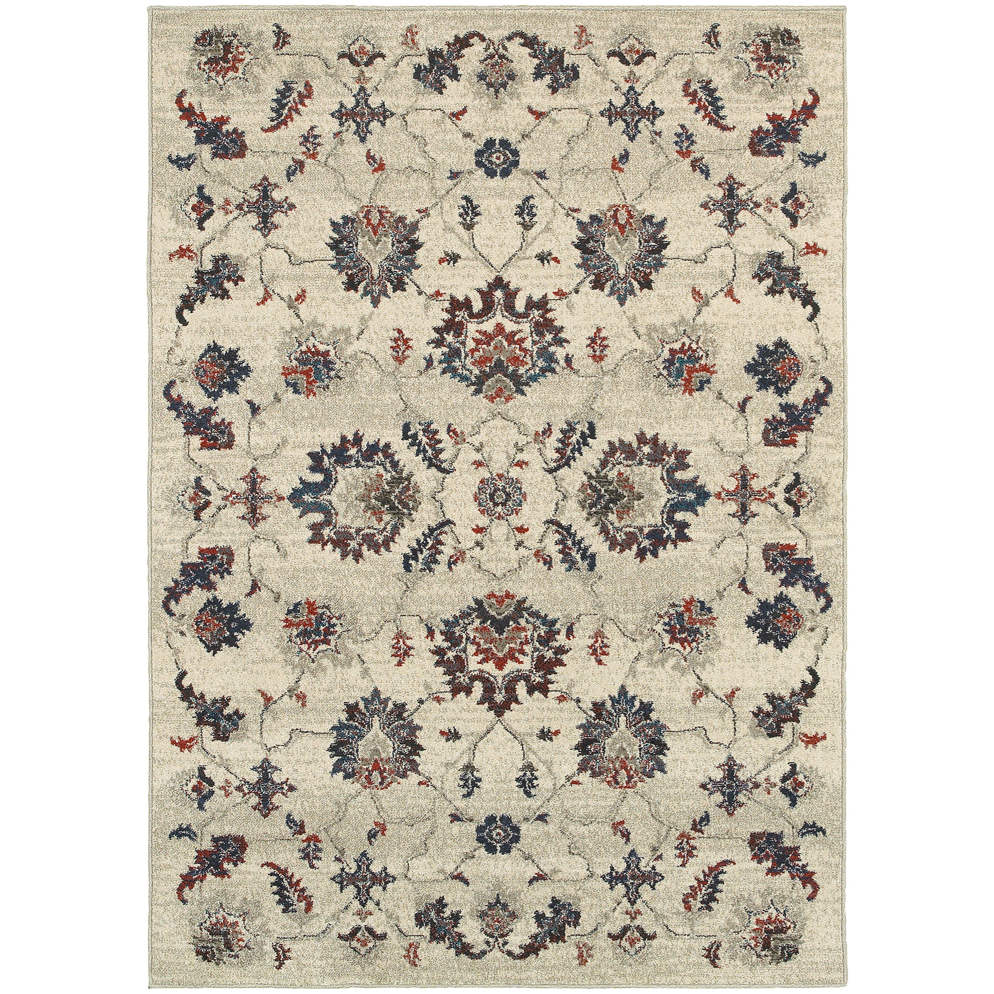 "Oriental Weavers Highlands 3'10"" X  5' 5"" Rectangle Area Rug - Item Number: HIG6684B310X55"