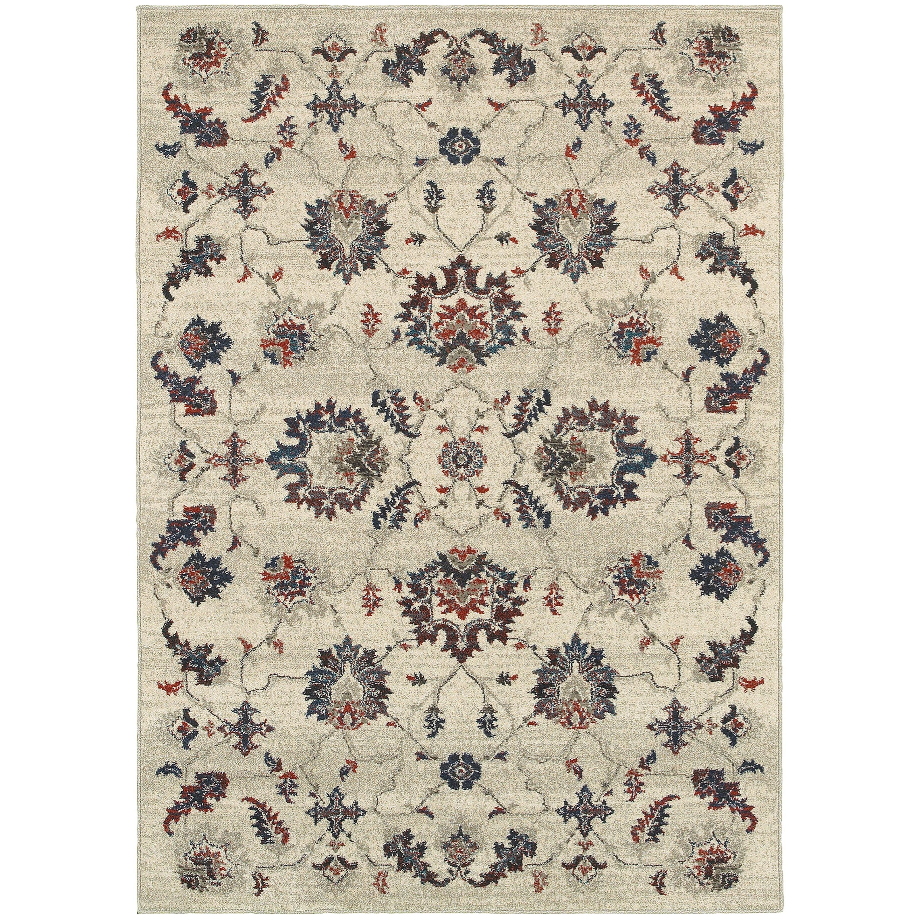 "Oriental Weavers Highlands 6' 7"" X  9' 6"" Rectangle Area Rug - Item Number: HIG6684B67X96"