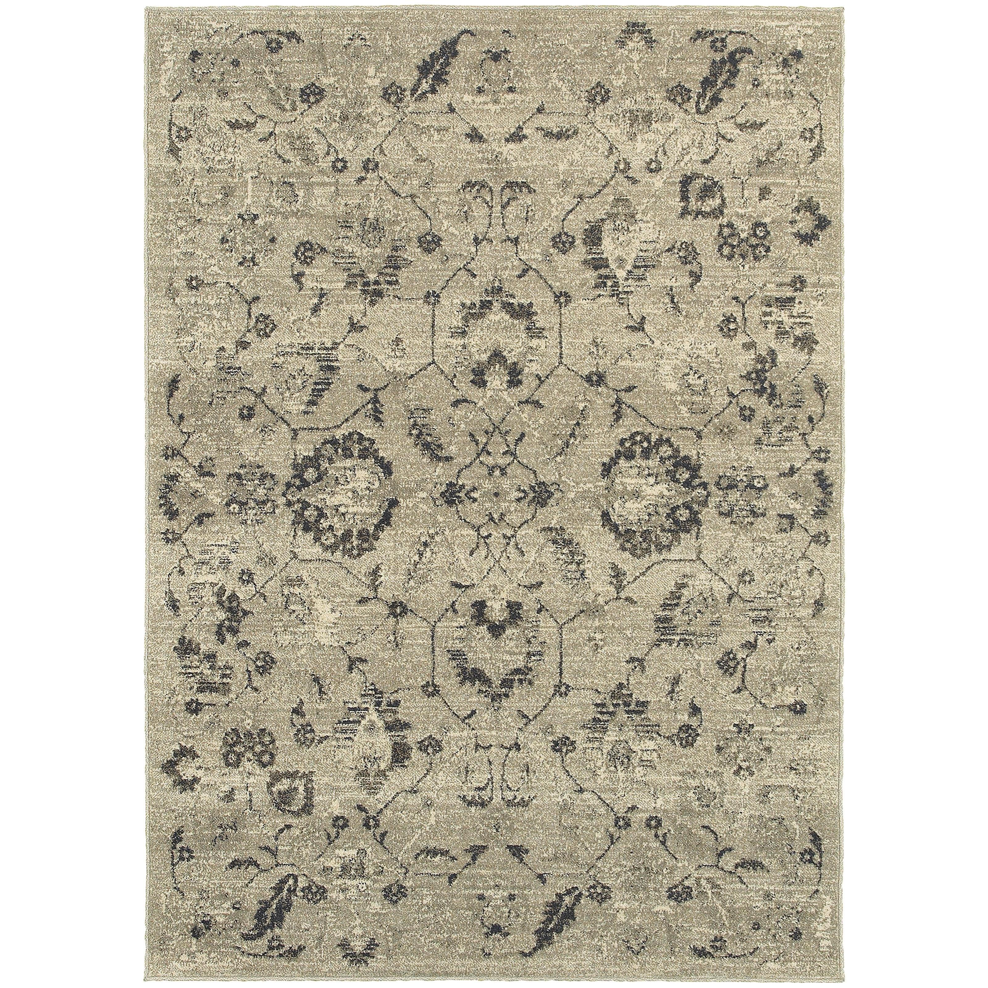 """Oriental Weavers Highlands 3'10"""" X  5' 5"""" Rectangle Area Rug - Item Number: HIG6684D310X55"""
