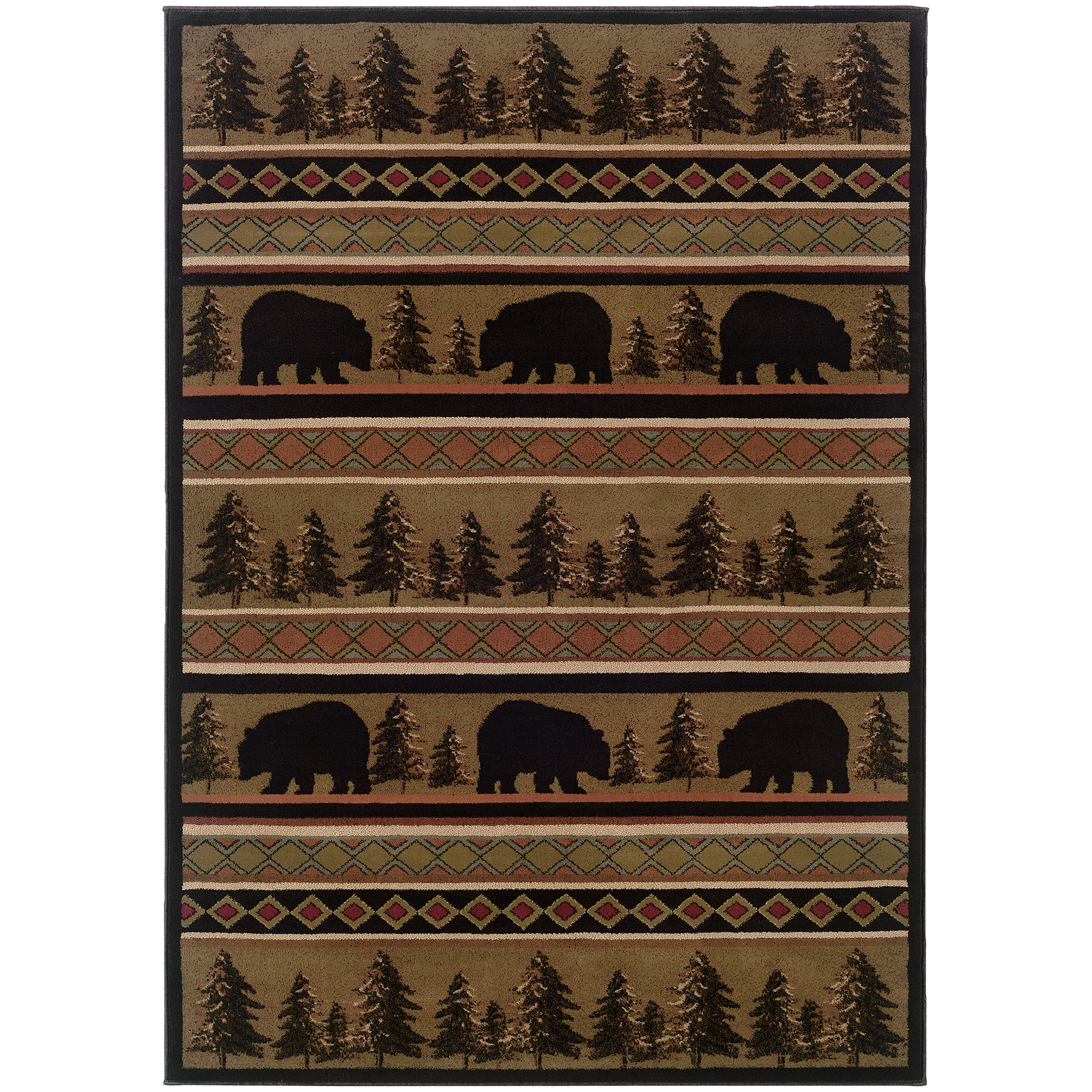 "Oriental Weavers Hudson 3'10"" X  5' 5"" Rug - Item Number: H1066A117165ST"