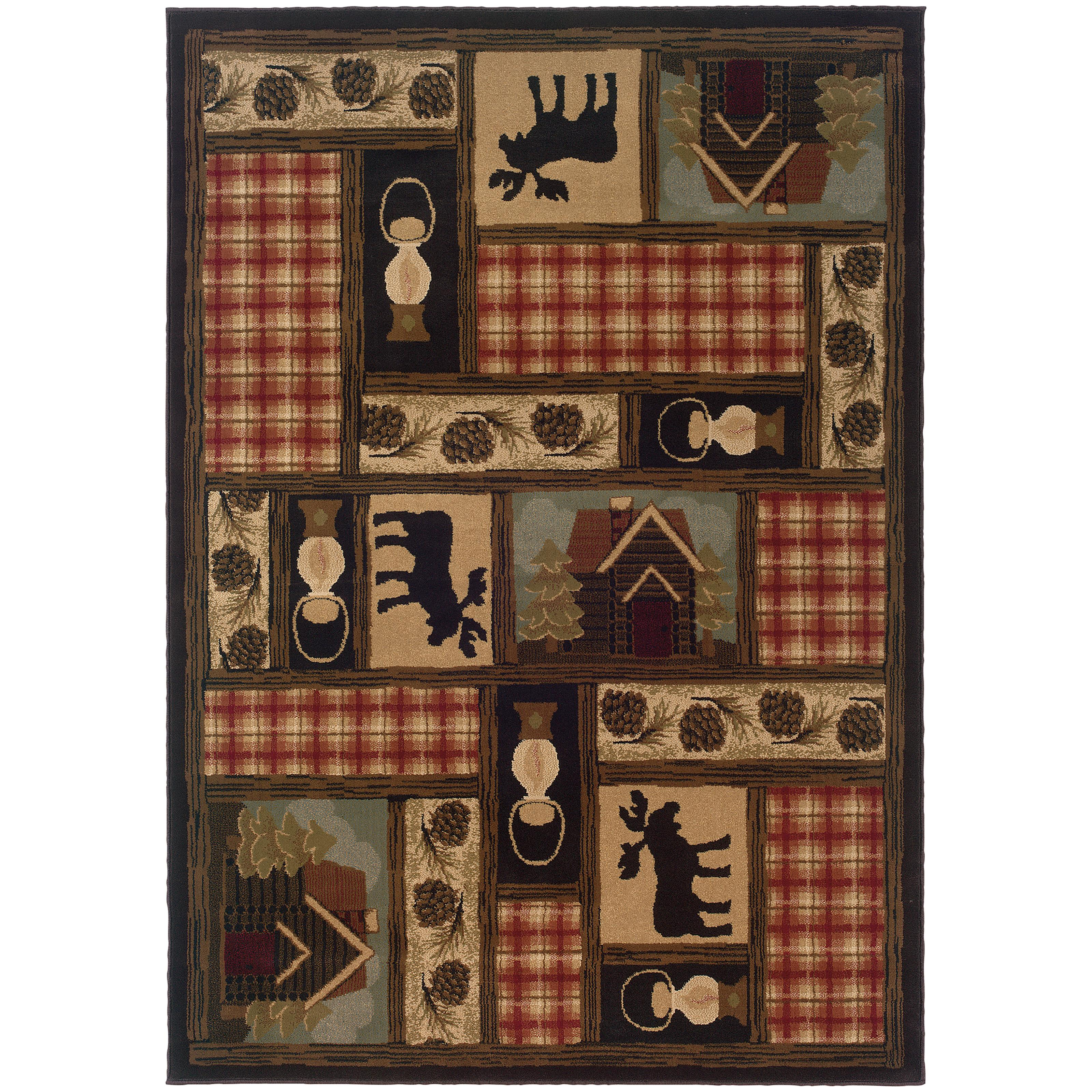 "Oriental Weavers Hudson 3'10"" X  5' 5"" Rug - Item Number: H1067A117165ST"