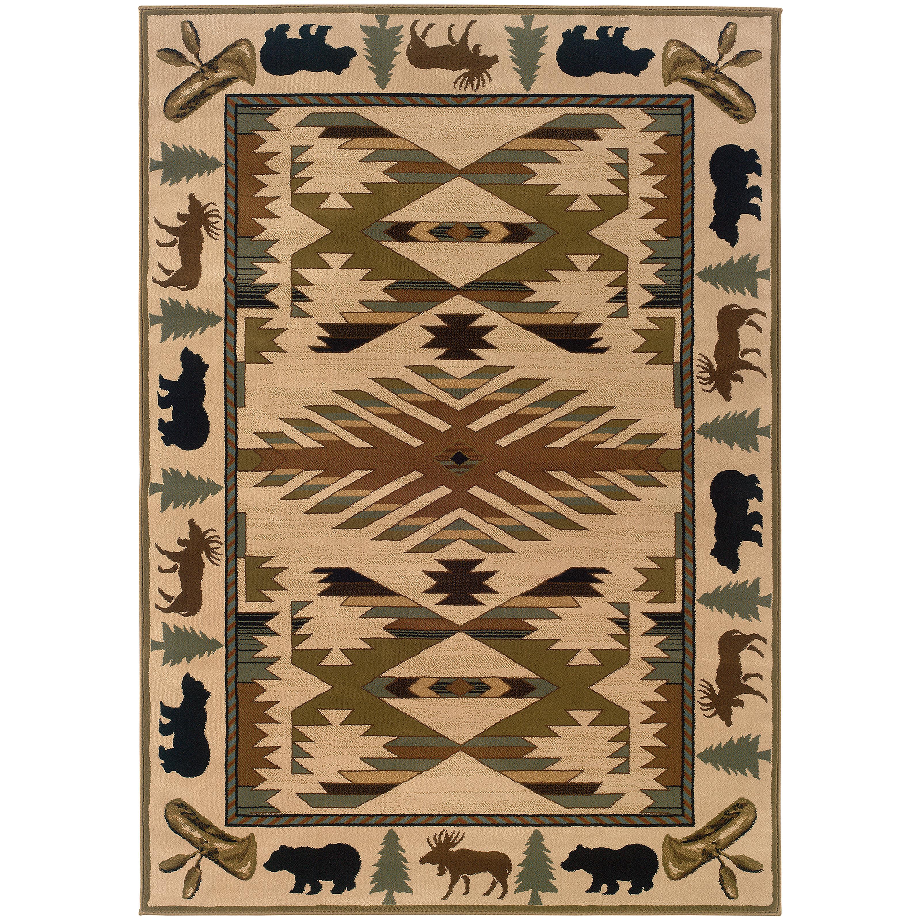 "Oriental Weavers Hudson 3'10"" X  5' 5"" Rug - Item Number: H1072A117165ST"