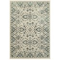 "Oriental Weavers Jayden 3'10"" X  5' 5"" Traditional Ivory/ Blue Recta - Item Number: JAY7371C310X55"