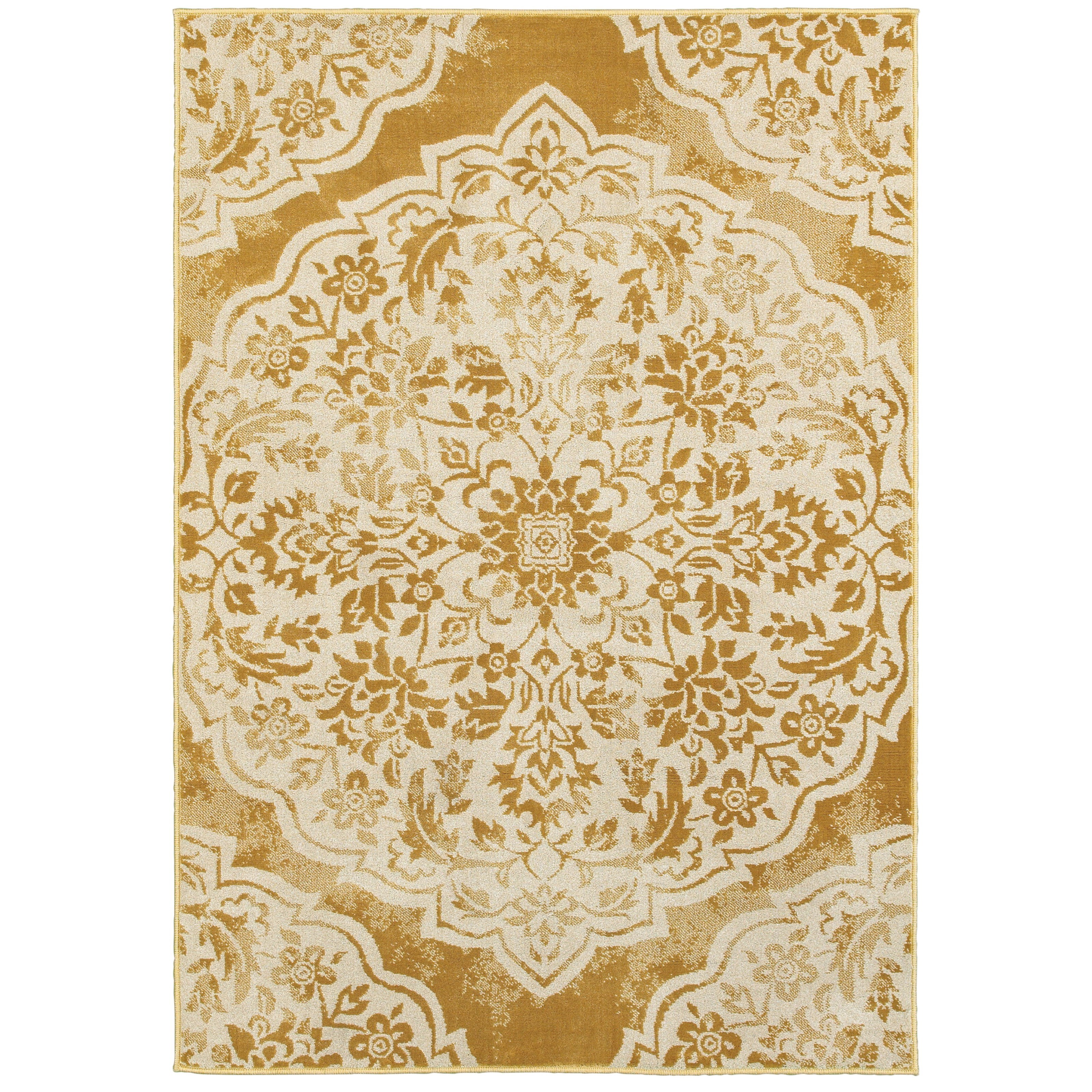 "Oriental Weavers Jayden 6' 7"" X  9' 6"" Casual Gold/ Ivory Rectangle  - Item Number: JAY7422F67X96"