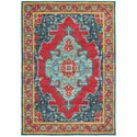 "Oriental Weavers Joli 5' 3"" X  7' 6"" Traditional Blue/ Red Rectang - Item Number: JOL1331S53X76"