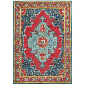 "Oriental Weavers Joli 7'10"" X 10'10"" Traditional Blue/ Red Rectang"