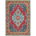 "Oriental Weavers Joli 7'10"" X 10'10"" Traditional Blue/ Red Rectang - Item Number: JOL1331S710X1010"