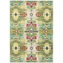 """Oriental Weavers Joli 9'10"""" X 12'10"""" Casual Stone/ Green Rectangle - Item Number: JOL1J910X1210"""