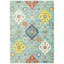 """Oriental Weavers Joli 3'10"""" X  5' 5"""" Casual Blue/ Multi Rectangle  - Item Number: JOL4929L310X55"""
