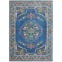 """Oriental Weavers Joli 9'10"""" X 12'10"""" Traditional Blue/ Multi Recta - Item Number: JOL564B910X1210"""