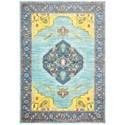 """Oriental Weavers Joli 9'10"""" X 12'10"""" Traditional Blue/ Yellow Rect - Item Number: JOL564L910X1210"""