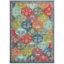 "Oriental Weavers Joli 5' 3"" X  7' 6"" Casual Multi/ Blue Rectangle  - Item Number: JOL9648S53X76"