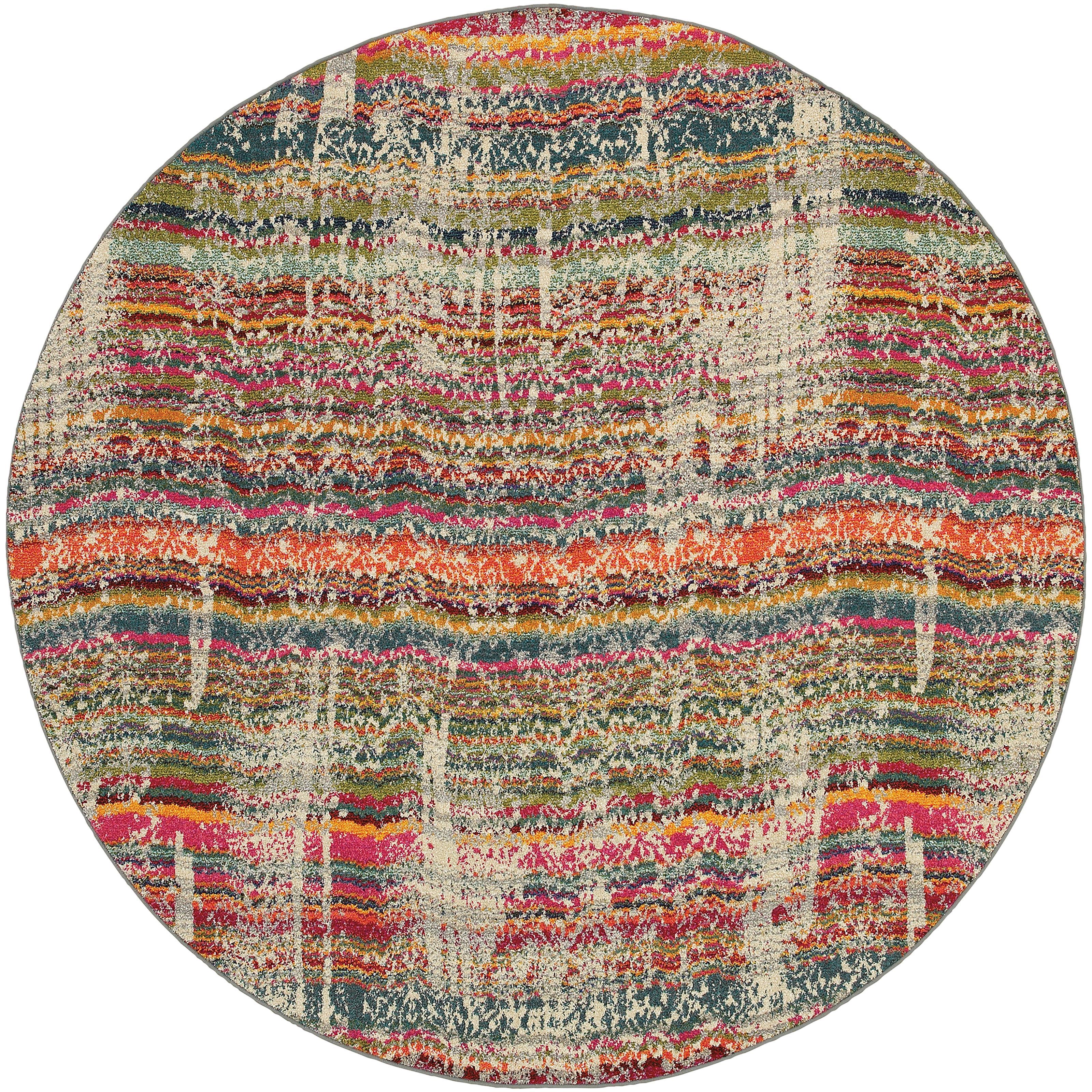 """Oriental Weavers Kaleidoscope 7' 8"""" X  7' 8"""" Rug - Item Number: K5992F240RDST"""