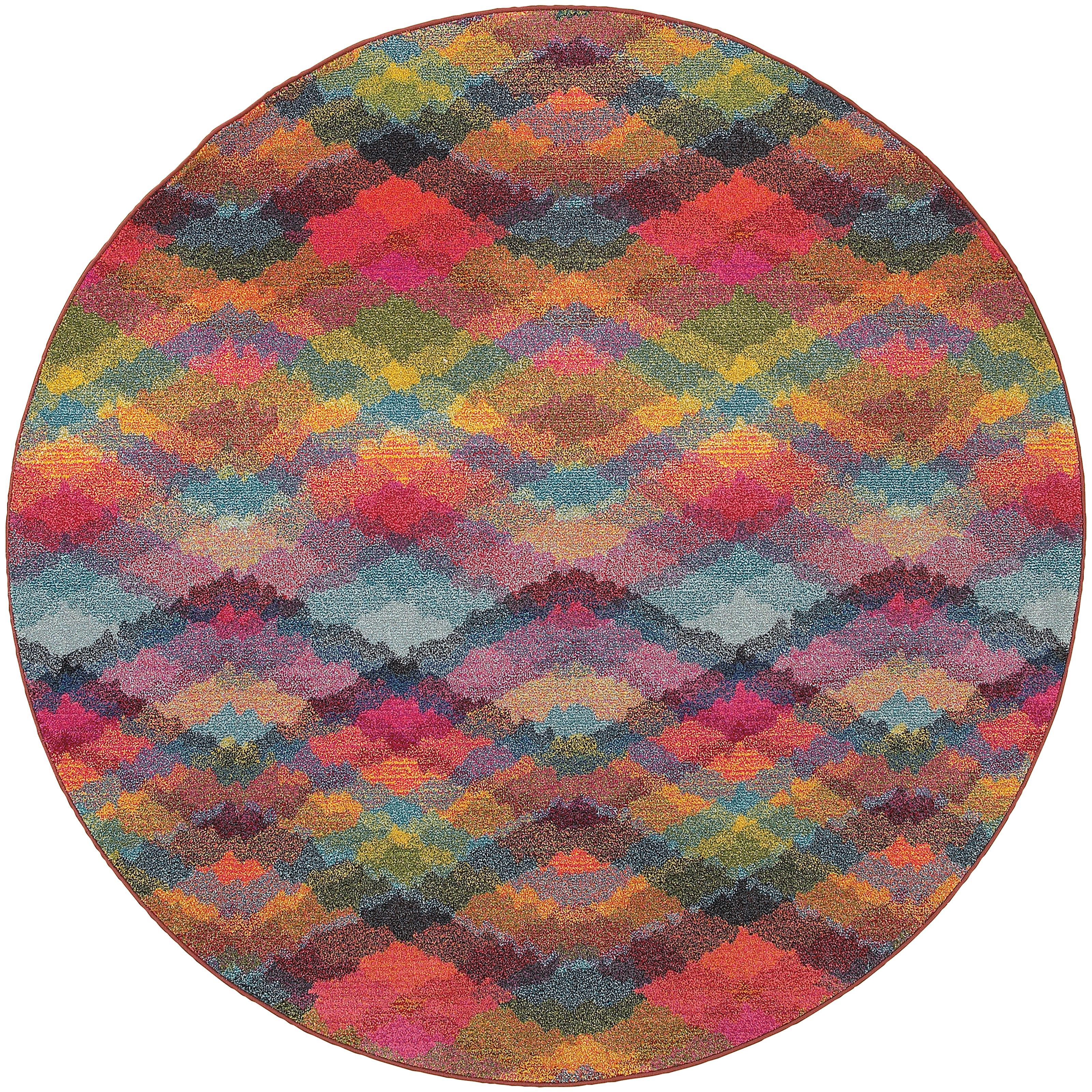 "Oriental Weavers Kaleidoscope 7' 8"" X  7' 8"" Rug - Item Number: K631X5240RDST"