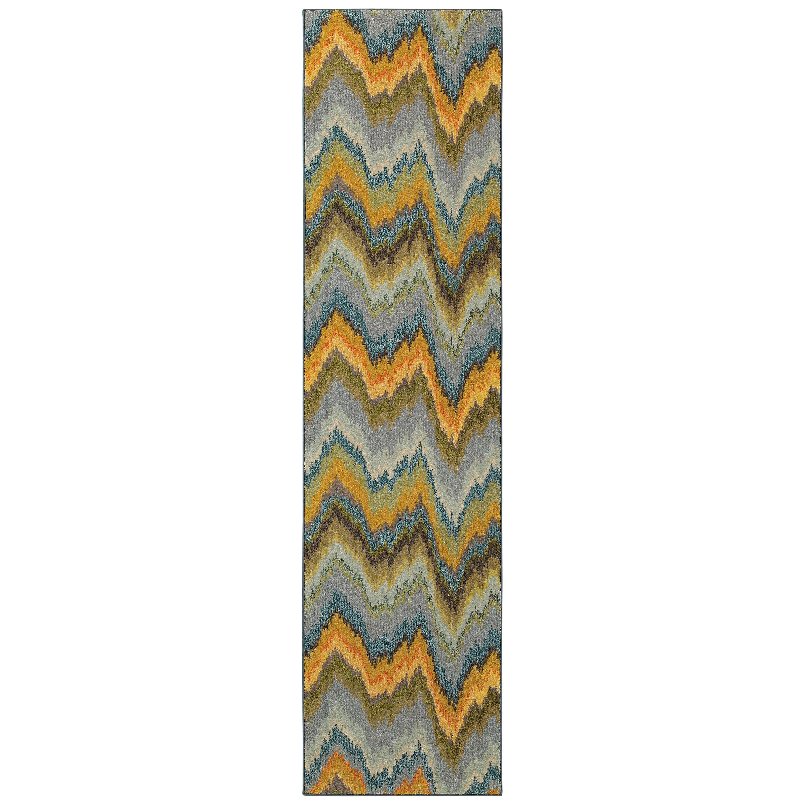 """Oriental Weavers Kaleidoscope 2' 7"""" X 10' 0"""" Rug - Item Number: K8020G078305ST"""