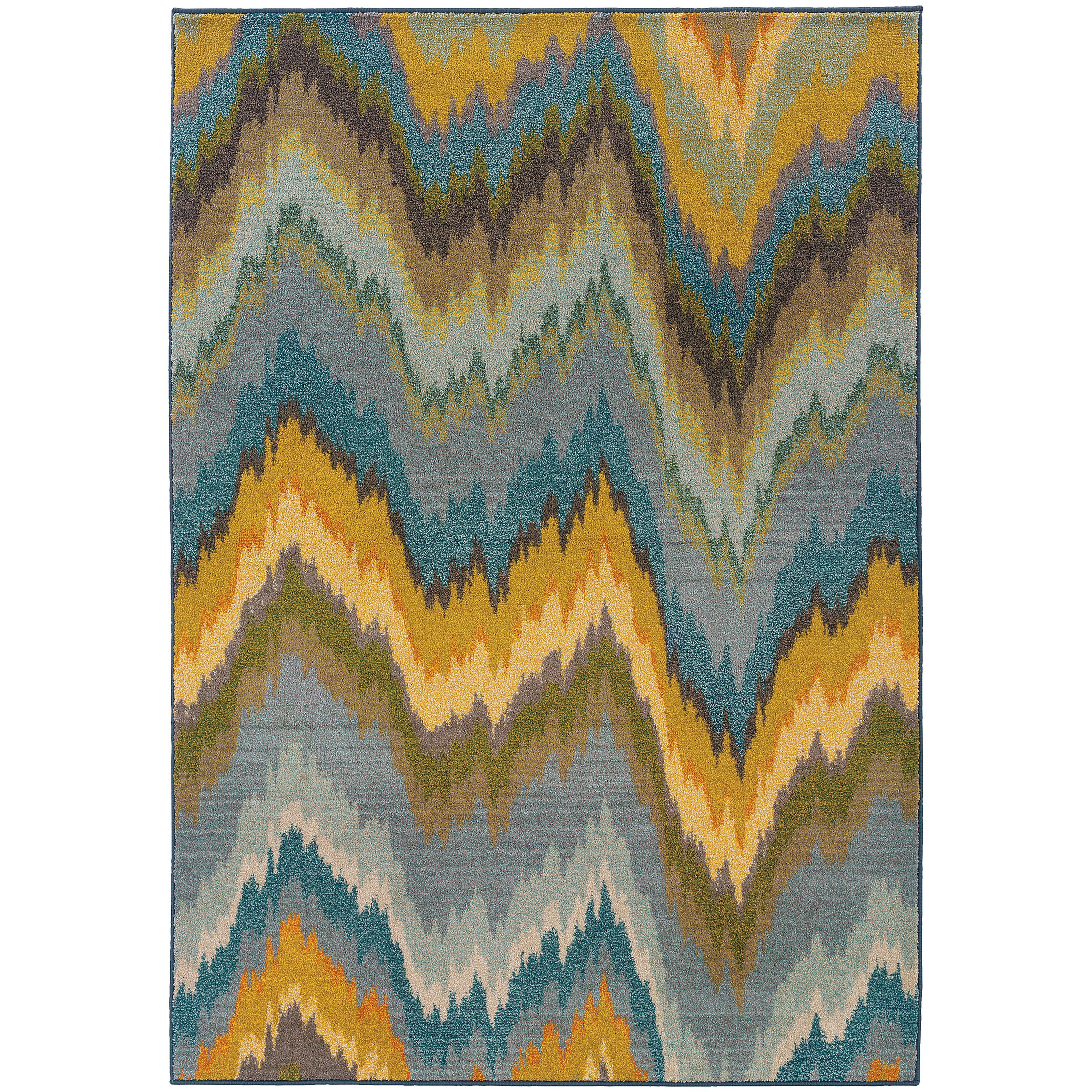 """Oriental Weavers Kaleidoscope 5' 3"""" X  7' 6"""" Rug - Item Number: K8020G160235ST"""