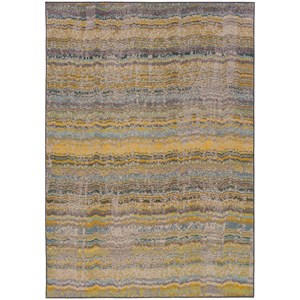 "Oriental Weavers Kaleidoscope 7'10"" X 10'10"" Casual Yellow/ Grey Rectangle"