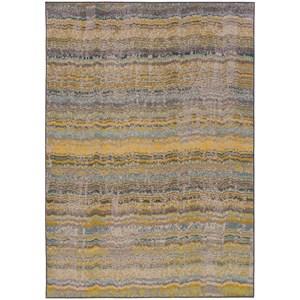 "Oriental Weavers Kaleidoscope 7'10"" X 10'10"" Casual Yellow/ Grey Rectangle"